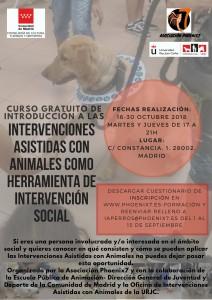 Cartel curso Introducción INTERVENCIONES ASISTIDAS CON ANIMALES COMO HERRAMIENTA DE INTERVENCIÓN SOCIAL 2